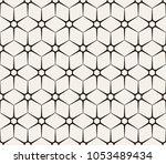 hexagon vector pattern | Shutterstock .eps vector #1053489434