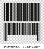 two style of fake bar code  at... | Shutterstock .eps vector #1053493094