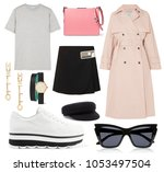 a set of fashionable clothes... | Shutterstock . vector #1053497504