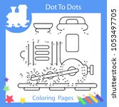 worksheets dot to dots with... | Shutterstock .eps vector #1053497705
