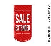 sale extended  banner design on ...   Shutterstock .eps vector #1053504539