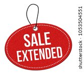 sale extended  label or price...   Shutterstock .eps vector #1053504551