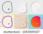 vector illustration set of cute ... | Shutterstock .eps vector #1053509237