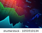stock market or forex trading... | Shutterstock . vector #1053510134