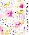 abstract colorful watercolor... | Shutterstock . vector #1053527414