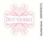 pink passport money rossete... | Shutterstock .eps vector #1053533171