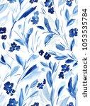 seamless modern floral pattern... | Shutterstock . vector #1053535784