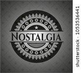 nostalgia black emblem. vintage. | Shutterstock .eps vector #1053536441