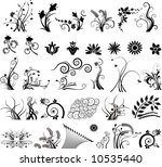 Stock vector floral vector elements in various styles 10535440