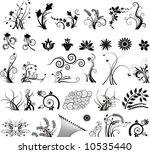 floral vector elements in...   Shutterstock .eps vector #10535440