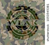 weak on camouflaged texture | Shutterstock .eps vector #1053545381