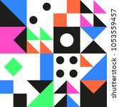 geometric pattern in color.... | Shutterstock .eps vector #1053559457