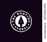 hipster rustic hunting badge... | Shutterstock .eps vector #1053562394