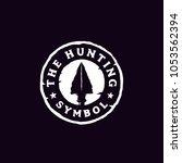 hipster hunting logo design... | Shutterstock .eps vector #1053562394