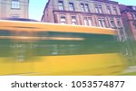 abstract motion blur to reflect ... | Shutterstock . vector #1053574877