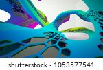 abstract white and colored... | Shutterstock . vector #1053577541