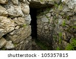 Entrance Of A Stone Bunker