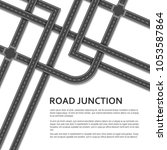 complex road junction with... | Shutterstock .eps vector #1053587864
