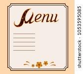 vector llustration of... | Shutterstock .eps vector #1053595085