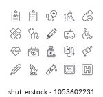 minimal set of medical and... | Shutterstock .eps vector #1053602231