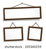 wooden frames hanging on a... | Shutterstock .eps vector #105360254