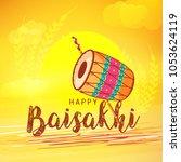 illustration of happy baisakhi... | Shutterstock .eps vector #1053624119