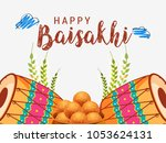 illustration of happy baisakhi... | Shutterstock .eps vector #1053624131