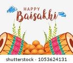 illustration of happy baisakhi... | Shutterstock .eps vector #1053624131