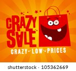 crazy sale design template ... | Shutterstock .eps vector #105362669