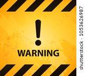 warning signboard design   Shutterstock .eps vector #1053626987