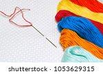Closeup Of Cross Stitch  Needl...