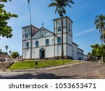 historic church in pirenopolis  ...   Shutterstock . vector #1053653471