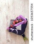 bouquet of tulips | Shutterstock . vector #1053657554