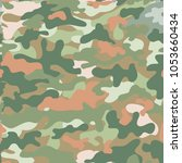 camouflage for printing... | Shutterstock .eps vector #1053660434