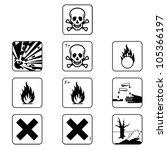Set Of Flammable Symbols...