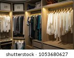 luxury walk in closet  ... | Shutterstock . vector #1053680627