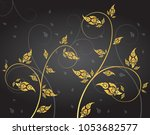 leaf of thai tradition vector   Shutterstock .eps vector #1053682577