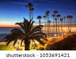california oceanside pier over... | Shutterstock . vector #1053691421