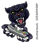 a panther video game player...   Shutterstock .eps vector #1053694589