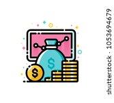 return on investment chart ...   Shutterstock .eps vector #1053694679