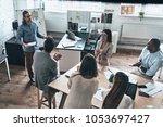 informative presentation. top... | Shutterstock . vector #1053697427