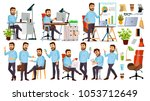 boss character vector. ceo ... | Shutterstock .eps vector #1053712649