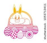 degraded line rabbit animal... | Shutterstock .eps vector #1053713411