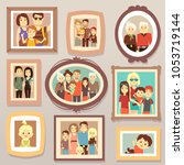 big family smiling photo... | Shutterstock . vector #1053719144