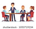 business meeting in office at...   Shutterstock . vector #1053719234