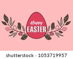 vector easter decoration with... | Shutterstock .eps vector #1053719957