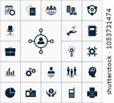 vector set of business icons.... | Shutterstock .eps vector #1053731474