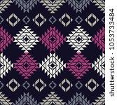 ethnic boho seamless pattern.... | Shutterstock .eps vector #1053733484