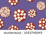 seamless pattern. embossed... | Shutterstock .eps vector #1053740045
