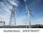 wind power generation | Shutterstock . vector #1053740357